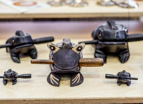 Klang Frosch aus Holz